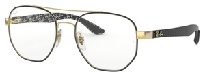 Ray Ban Glasses RX8418 Gold on Top Matte Black