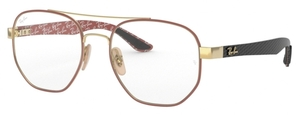 Ray Ban Glasses RX8418 Gold on Top Matte Bordeaux