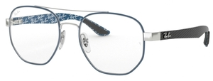 Ray Ban Glasses RX8418 Silver on Top Matte Blue