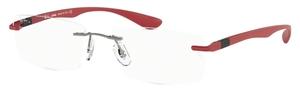 Ray Ban Glasses RX8724 Matte Dark Gunmetal Red