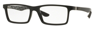 Ray Ban Glasses RX8901 Top Black On Shiny Grey