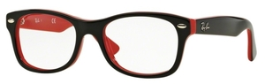 Ray Ban Junior RY1528 Top Black On Red