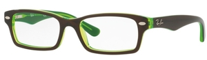 Ray Ban Junior RY1530 Top Brown on Green Fluo