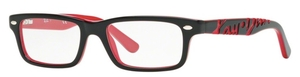Ray Ban Glasses RY1535 Top Black On Red