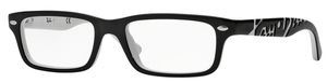 Ray Ban Glasses RY1535 Top Black On White