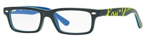Ray Ban Glasses RY1535 Top Dark Grey On Blue
