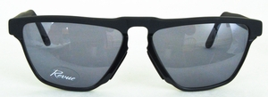 Revue Retro S7403 Matte Black/Shiny Black with Grey Lenses