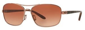 Oakley SANCTUARY OO4116 01 Rose Gold with VR50 Brown Gradient Lenses