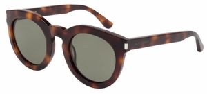 YSL Saint Laurent SL 102 Havana with Green Lenses