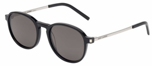 YSL Saint Laurent SL 110 Black-Silver with Smoke Lenses