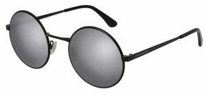 YSL Saint Laurent SL 136 Black with Silver Mirror Lenses