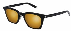 YSL Saint Laurent SL 138 Black with Gold Mirror Lenses