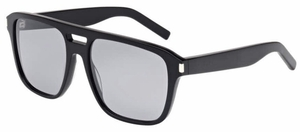 YSL Saint Laurent SL 87 Shiny Black with Silver Mirror Lenses