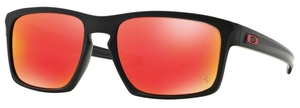Oakley Sliver OO9262 12 Matte Black with Ruby Iridium Lenses
