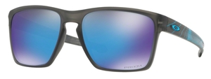 Oakley Sliver XL OO9341 20 Matte Grey Smoke Aero with Prizm Sapphire Lenses