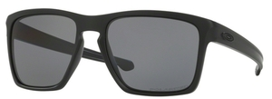 Oakley Sliver XL OO9341 01 Matte Black with Polarized Grey Lenses  01