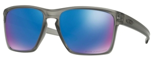 Oakley Sliver XL OO9341 03 Matte Grey Ink with Polarized Sapphire Iridium Lenses