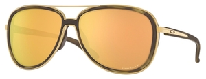 Oakley SPLIT TIME OO4129 Brown Tortoise Gold / prizm rose polarized