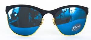 Revue Retro Sting 5 Matte Black with Blue Lenses