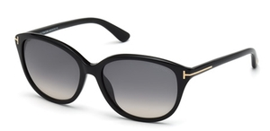 Tom Ford TF329 Karmen Shiny Black with Gradient Smoke Lenses