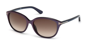 Tom Ford TF329 Karmen Violet with Gradient Brown Lenses