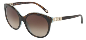 Tiffany TF4133F Havana/Blue with Brown Gradient Lenses
