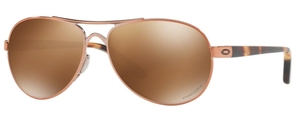 Oakley Tie Breaker OO4108 17 Rose Gold with Prizm Tungsten Polarized Lenses