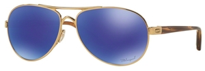Oakley Tie Breaker OO4108 14 Polished Gold with Polarized Violet Iridium Lenses