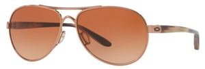 Oakley Tie Breaker OO4108 08 Rose Gold with VR50 Brown Gradient Lenses