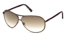 Tod's TO0008 Shiny Dark Brown with Gradient Brown Lenses