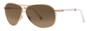 Tod's TO0008 Shiny Rose Gold with Brown Mirror Lenses