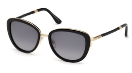 Tod's TO0079 Shiny Black with Gradient Smoke Lenses
