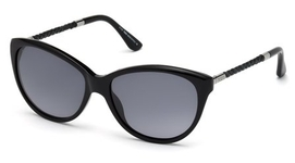 Tod's TO0082 Shiny Black with Gradient Smoke Lenses
