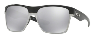 Oakley Two Face XL OO9350 07 Polished Black with Chrome Iridium