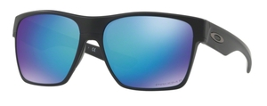 Oakley Two Face XL OO9350 09 Matte Black with Prizm Sapphire Polarized Lenses