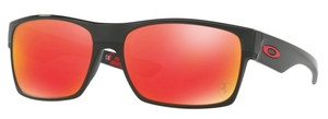 Oakley Two Face OO9189 36 Polished Black w/ Ruby Iridium Lenses