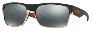 Oakley Two Face OO9189 20 Scuderia Ferrari Collection: Matte Black with Black Iridium Lenses