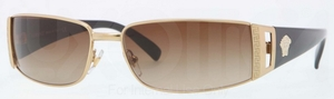 Versace VE2021 Gold w/ Brown Gradient Lenses