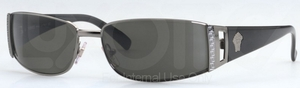 Versace VE2021 Gunmetal w/ Green Lenses