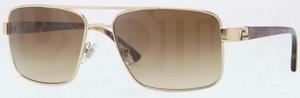 Versace VE2141 Pale Gold w/ Crystal Brown Gradient Lenses
