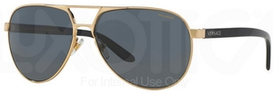 Versace VE2142 Gold w/ POLAR gray lenses