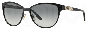 Versace VE2147B Black with Gray Gradient Lenses  100911