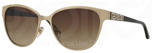 Versace VE2147B BRUSHED PALE GOLD with Brown Gradient Lenses