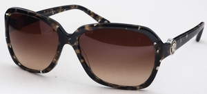 Versace VE4218B Spotted Black/Brown/Crystal w/ Brown Gradient Lenses