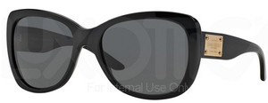 Versace VE4250 Shiny Black w/ Gray Lenses