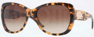 Versace VE4250A Amber Havana w/ Brown Gradient Lenses