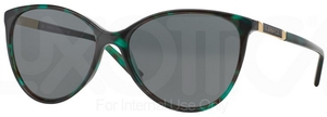 Versace VE4260 Green Havana Transp w/ Gray Lenses