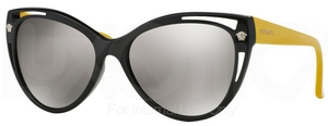 Versace VE4267 Black w/ Gray Silver Mirror Lenses