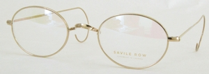 Savile Row Walmer 18Kt, Cable Temples Shiny Satin Gold