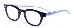 Eyebobs Waylaid Navy Blue Front with Light Blue Crystal Temples